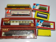 OO Gauge Model Railways: A quantity of rolling stock by AIRFIX, TRIX, LIMA and FARISH - G in F/G