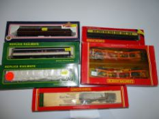 OO Gauge Model Railways: A group of mixed rolling stock by HORNBY, REPLICA and BACHMANN - G in F/G