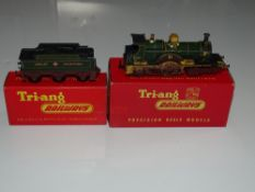OO Gauge Model Railways: A TRI-ANG R354/R37 Achilles Class (Dean Single) steam locomotive and tender