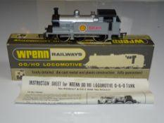 OO Gauge Model Railways: A WRENN W2203 Class R1 steam tank locomotive in 'SHELL' silver livery -