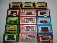 OO Gauge Model Railways: A mixed group of various wagons by DAPOL, REPLICA, AIRFIX & LIMA as