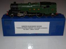 OO Gauge Model Railways: A WRENN W2220 Class 4MT 2-6-4 standard tank in GWR green numbered 8230. G-