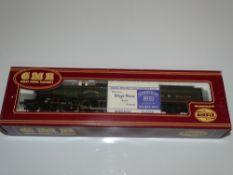 OO Gauge Model Railways: An AIRFIX Castle Class steam locomotive in Great Western green livery '