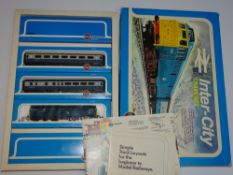 OO Gauge Model Railways: A rare, complete mint boxed AIRFIX Inter-City train set - E in VG box