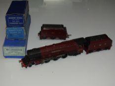 OO Gauge Model Railways: A HORNBY DUBLO EDL2 3-rail Duchess Class steam locomotive in LMS maroon