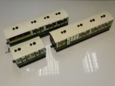 SM32 Scale Model Railways: A group of 3 kit/scratch built coaches - finished to a good standard in