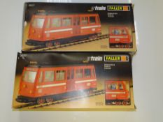 G Scale Model Railways: A pair of FALLER e-train 3827 Railbuses as lotted - G/VG in F/G boxes