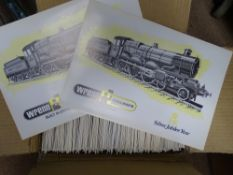 OO Gauge Model Railways: A large box of printed folders (empty) produced by WRENN for the Silver