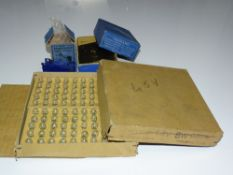 OO Gauge Model Railways: A mixed lot containing 2 MECCANO clockwork motors and a trade box of