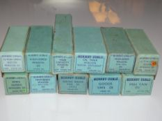 OO Gauge Model Railways: A mixed group of HORNBY DUBLO 3-rail wagons in pre and early post war boxes
