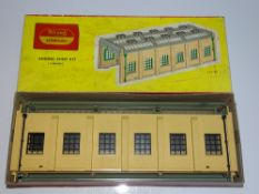 OO Gauge Model Railways: A HORNBY DUBLO 5005 Engine Shed Kit with later TRI-ANG HORNBY over
