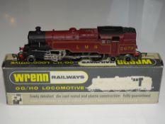 OO Gauge Model Railways: A WRENN W2219 Class 4MT 2-6-4 standard tank in LMS maroon numbered 2679.