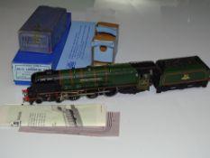 OO Gauge Model Railways: A HORNBY DUBLO EDL12 3-rail Duchess Class steam locomotive in BR Green