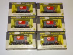 OO Gauge Model Railways: A group of WRENN W5005 Tunnel Bulk cement wagons - VG in VG boxes (6)