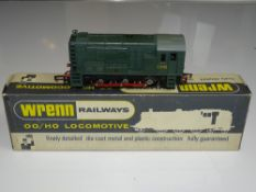 OO Gauge Model Railways: A WRENN W2231 Class 08 Diesel Shunter in BR Green livery - numbered D3763 -