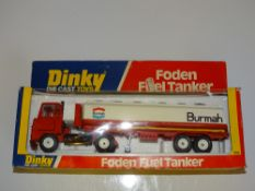 A DINKY 950 FODEN FUEL Tanker in BURMAH livery - VG/E in G box