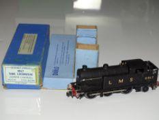 OO Gauge Model Railways: A HORNBY DUBLO EDL7 3-rail Class N2 steam tank locomotive in LMS black