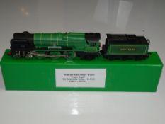 OO Gauge Model Railways: A WRENN W2237 re-built Bulleid Pacific steam locomotive in Southern
