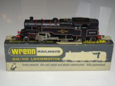 OO Gauge Model Railways: A WRENN W2218 Class 4MT 2-6-4 standard tank in BR black numbered 80033 VG