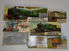 OO Gauge Model Railways: A group of unbuilt AIRFIX kits comprising 'Evening Star', a Prairie Tank, 3