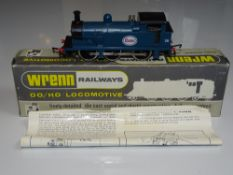 OO Gauge Model Railways: A WRENN W2201 Class R1 steam tank locomotive in 'ESSO' blue livery -