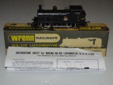 OO Gauge Model Railways: A WRENN W2205A R1 class steam tank locomotive in BR black, numbered