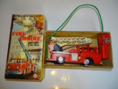 A MARX battery operated remote contol Fire Engine - VG in G box