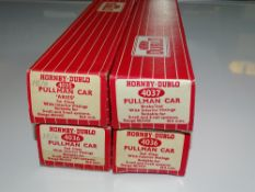 OO Gauge Model Railways: A group of HORNBY DUBLO Pullman Cars as lotted - G/VG in G boxes (4)