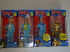 A group of four THUNDERBIRDS (GERRY ANDERSON) puppets by PELHAM (CARLTON TV branding) E in VG/E