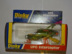 A DINKY 351 UFO INTERCEPTOR - E - Appears unused in G box, slight crushing