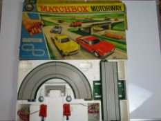 A MATCHBOX M2 MOTORWAY SET - appears almost complete but cars are missing - G in F box
