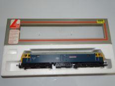 OO Gauge Model Railways: A LIMA Class 47 Diesel locomotive in BR blue livery 'Aldburgh Festival' -