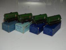OO Gauge Model Railways: A group of HORNBY DUBLO pre and early post war 'Power Ethyl' 3-rail tank