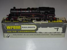 OO Gauge Model Railways: A WRENN W2218 Class 4MT 2-6-4 standard tank in BR black numbered 80079.
