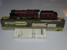 OO Gauge Model Railways: A WRENN W2274/5P Royal Scot Class steam locomotive in LMS maroon livery '