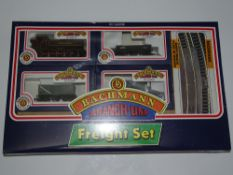 OO Gauge Model Railways: A BACHMANN 30-200 Freight Train set comprising an ex-GWR steam pannier tank