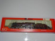 HO Gauge Model Railways: A RIVAROSSI 1350 Royal Scot Class steam locomotive in LMS maroon livery '
