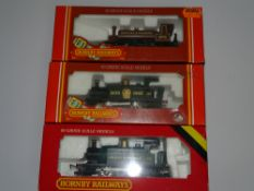 OO Gauge Model Railways: A trio of HORNBY 0-4-0 steam tank locomotives comprising R077, R173 &