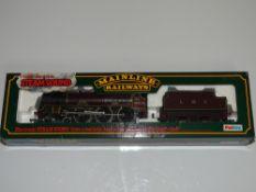 OO Gauge Model Railways: A MAINLINE re-built Royal Scot Class steam locomotive in LMS maroon