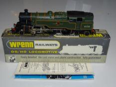 OO Gauge Model Railways: A WRENN W2270 Class 4MT steam tank locomotive in BR Green livery numbered