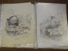 OO Gauge Model Railways: A quantity of WRENN prints based on line drawings of 'Grenadier