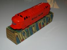 A TRI-ANG MINIC M508 Diesel Flyer Push & Go Toy - VG in G box