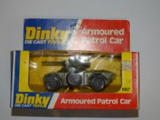 A DINKY 667 ARMOURED PATROL CAR - VG in G box, slight crushing
