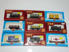 OO Gauge Model Railways: A group of AIRFIX wagons as lotted - VG/E in G/VG boxes (9)