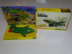 A DINKY 101 THUNDERBIRD 2 - Original Version in Green with full picture box - VG - inner display