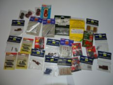 OO Gauge Model Railways: A tray of assorted railway modelling accessories as lotted - mostly in