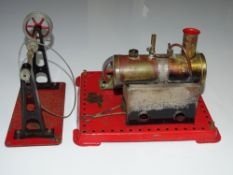 A MAMOD Stationary Steam Engine together with accessory drive - F - unboxed (2)