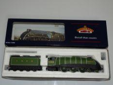 OO Gauge Model Railways: A BACHMANN 31-956 Class A4 steam locomotive in LNER Doncaster Green