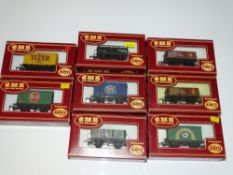 OO Gauge Model Railways: A group of AIRFIX wagons as lotted - VG/E in G/VG boxes (8)