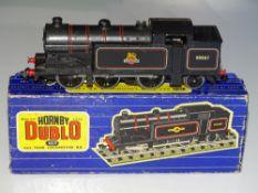OO Gauge Model Railways: A HORNBY DUBLO 3217 3-rail Class N2 Steam tank locomotive in BR black